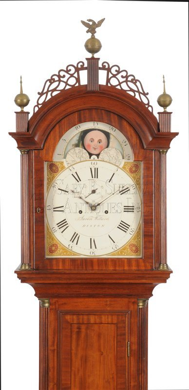 Aaron Willard Tall Clock hood