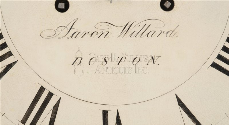 Aaron Willard Tall Clock signature