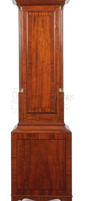 Aaron Willard Tall Clock waist