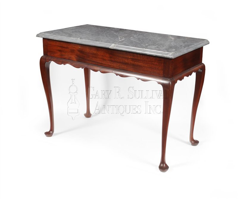 Queen Anne marble top pier table, Boston, circa 1740-60