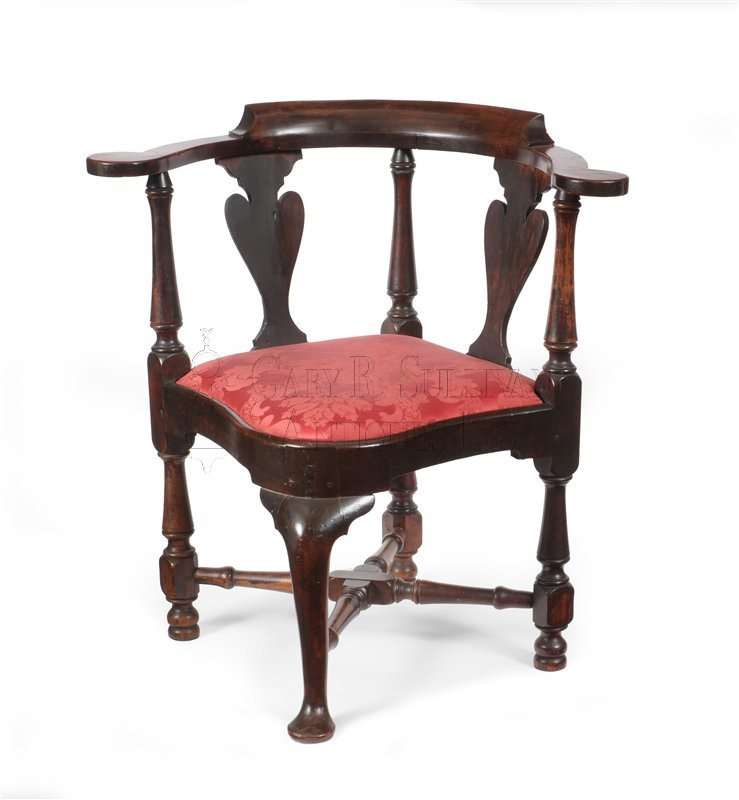 Queen Anne corner chair, (Newport, RI)