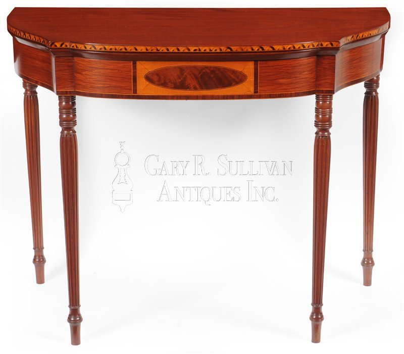 Federal Inlaid card table, (Boston, circa 1790)