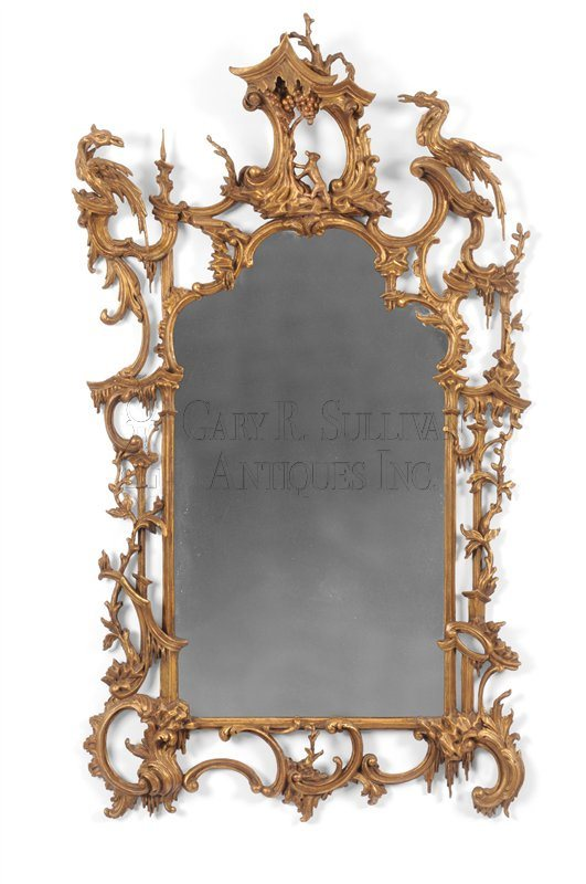 Rococo Giltwood Wall Mirror in the manner of Thomas Johnson  (Philadelphia, PA)