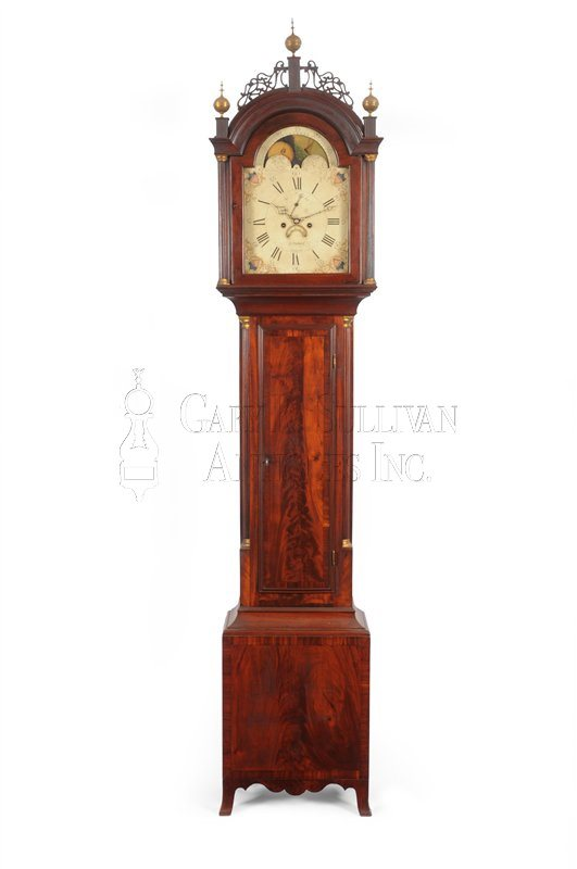 Elnathan Taber antique tall clock
