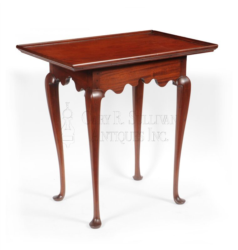 Queen Anne tray top tea table, (Boston, Mass)