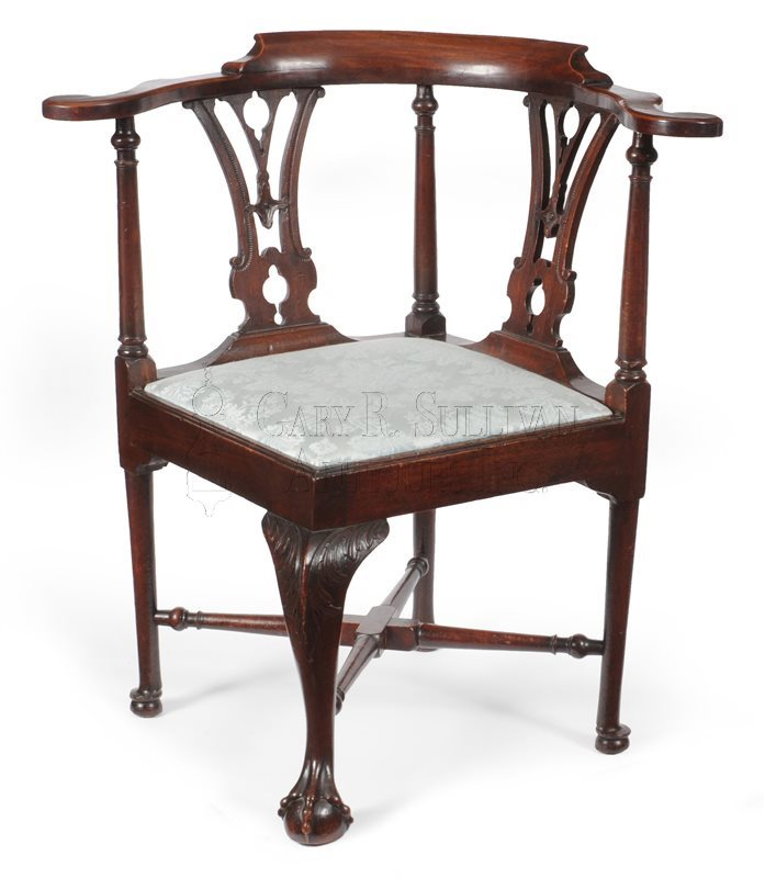 Chippendale corner chair, (Boston, MA)