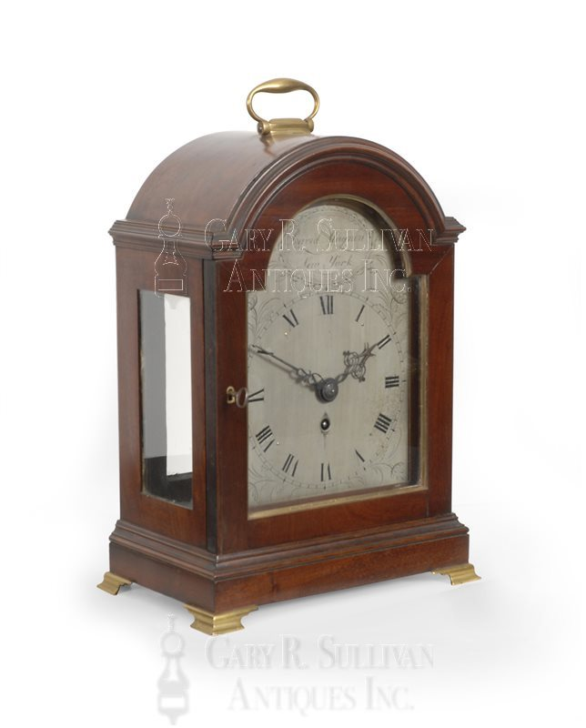 New York antique Federal bracket clock