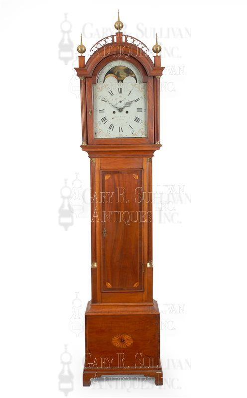 John Bailey antique tall clock hood
