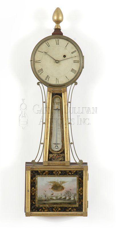 Aaron Willard antique banjo clock/patent time piece