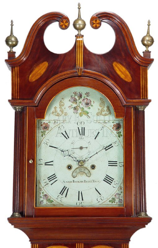 New Jersey antique tall clock hood