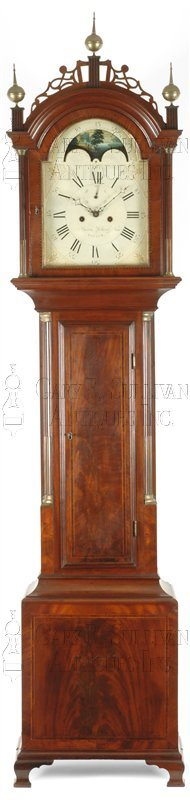 Aaron Willard antique grandfather clock
