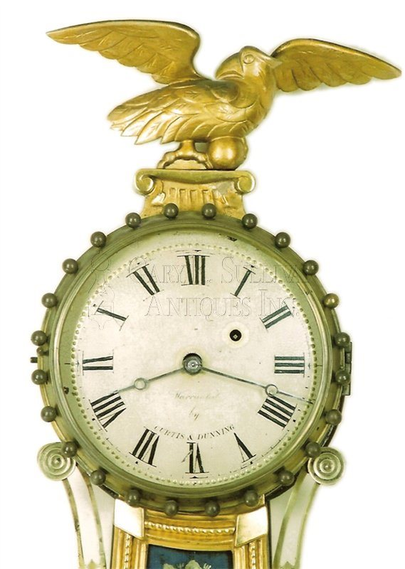 Lemuel Curtis antique girandole clock