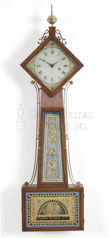 antique diamond head banjo clock