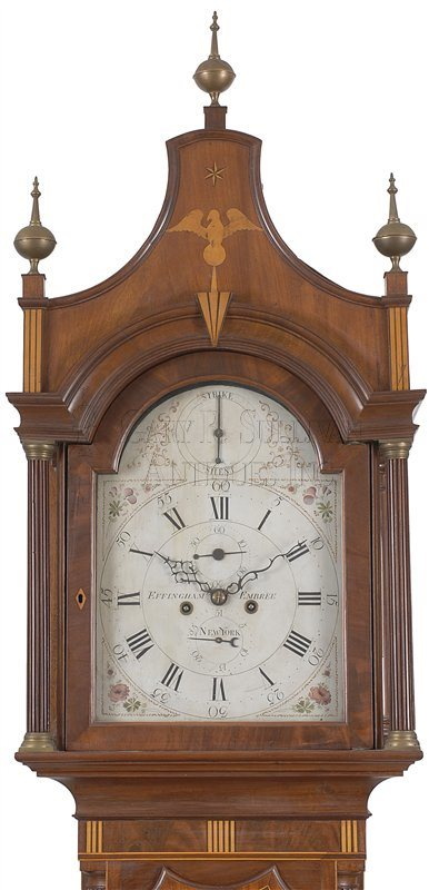 Effingham Embree antique tall case clock