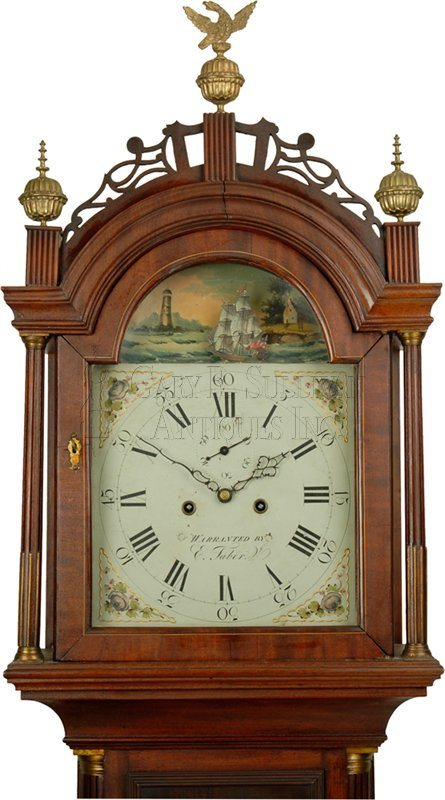 Elnathan Taber antique grandfather clock