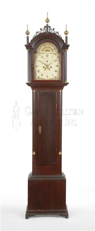 antique Maine tall case clock