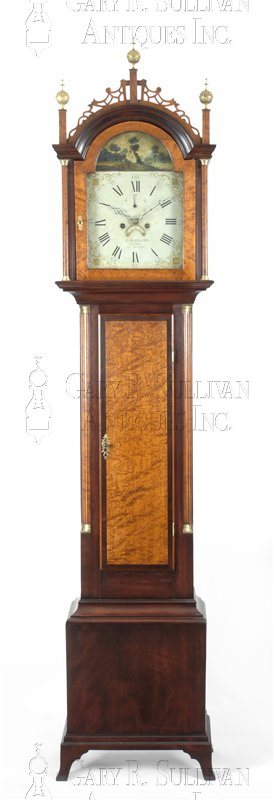 Frederic Wingate Maine tall case clock