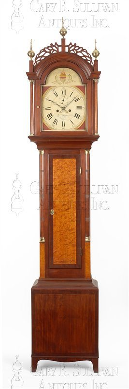 Frederic Wingate antique Maine tall clock