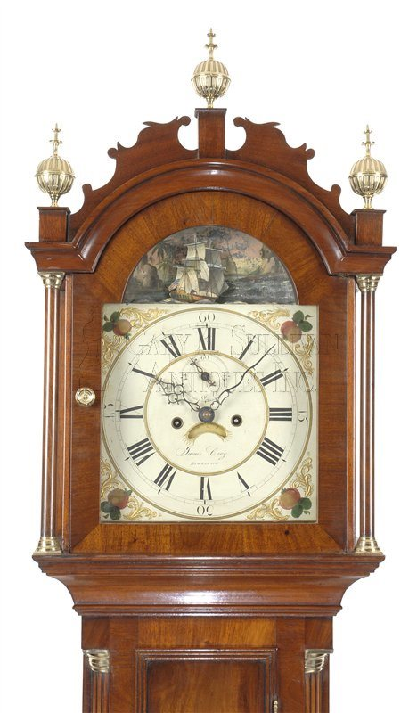 Maine animated antique tall clock