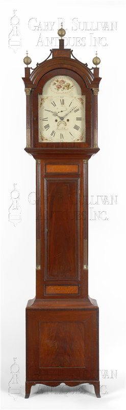 antique Seymour case tall clock