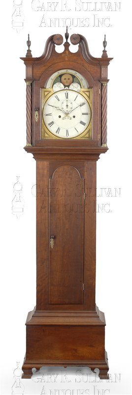 John Bailey antique tall case clock