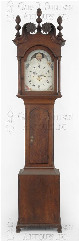 antique Chippendale musical tall clock