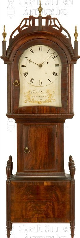 antique Sheraton dwarf clock