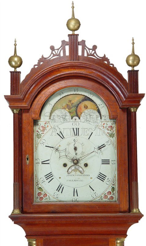 John Osgood antique grandfather clock hood
