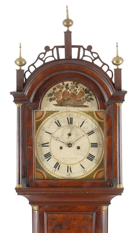 Joshua Wilder antique tall case clock