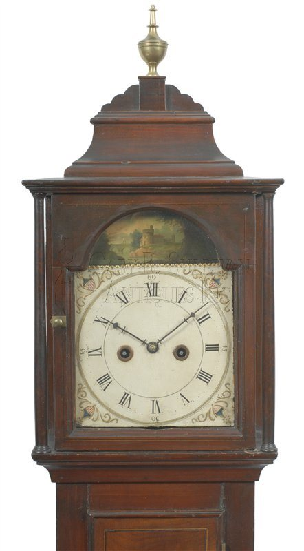 Joshua Wilder antique federal dwarf clock