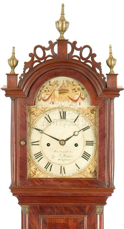Joshua Wilder antique dwarf clock hood