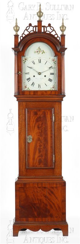 Joshua Wilder antique grandmother clock