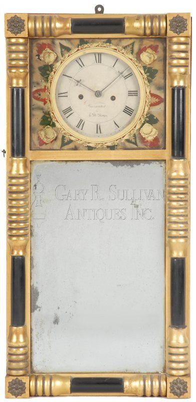 Leonard Noyes antique mirror clock