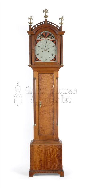 antique Maine tall clock