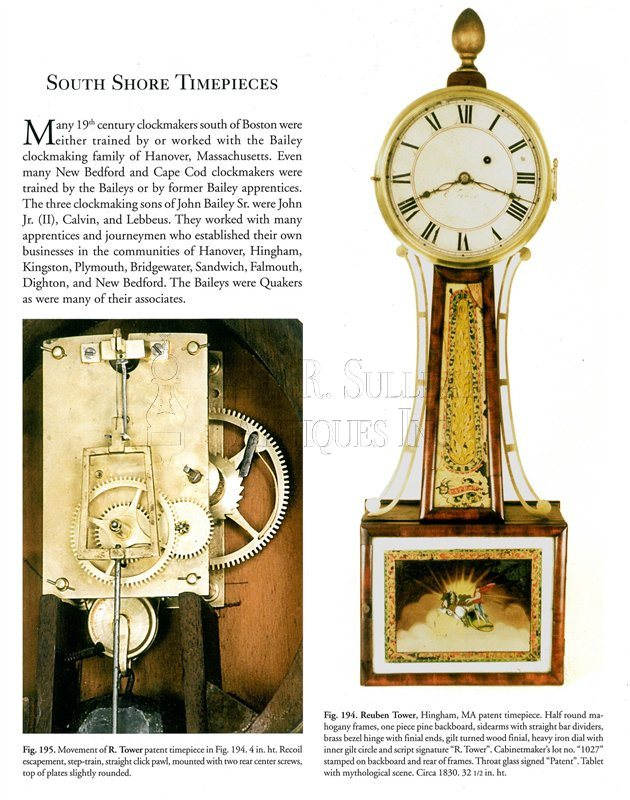 Reuben Tower antique banjo clock reference