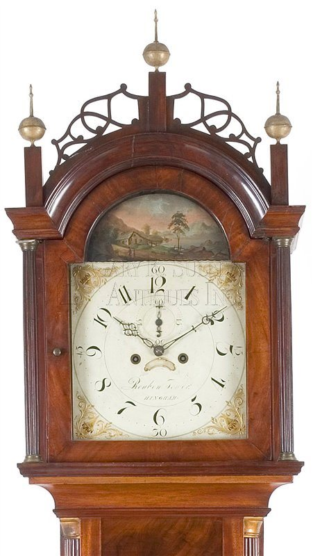 Reuben Tower antique tall case clock