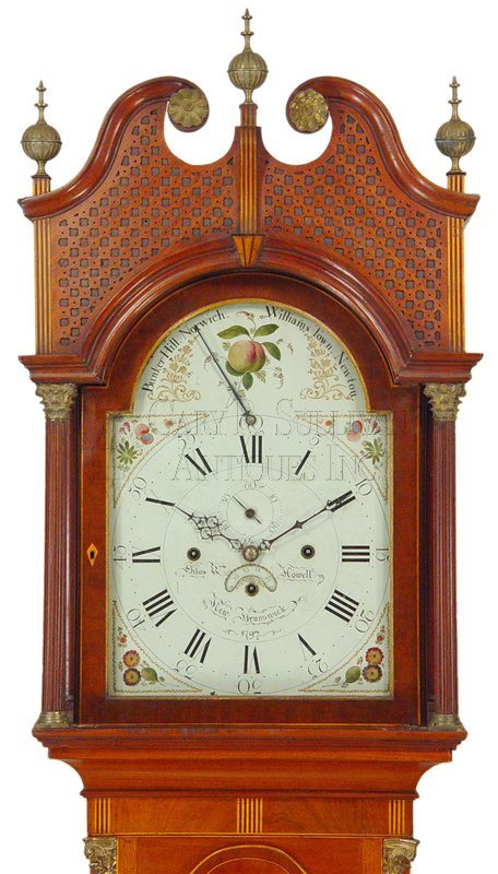 antique New Jersey musical tall clock
