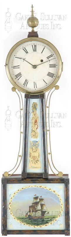 Simon Willard and Son antique banjo clock-patent time piece
