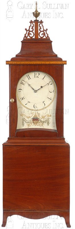 antique Massachusetts shelf clock