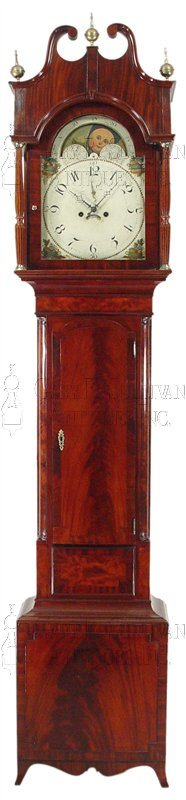 Regency Mahogany Grandfather Clock (Northern New Jersey)