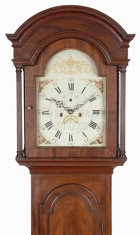 antique Newport tall case clock
