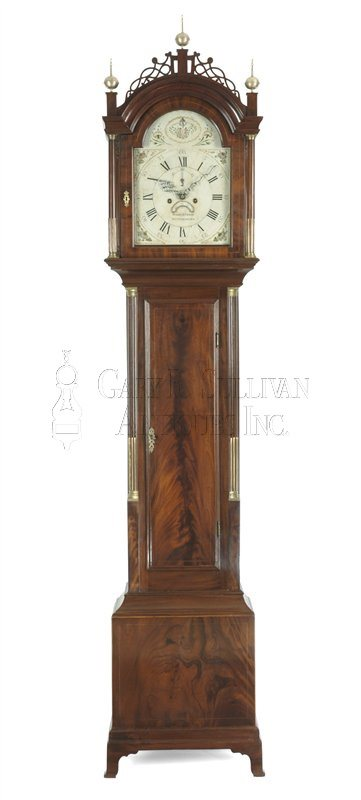 William Cummens Roxbury case antique tall clock