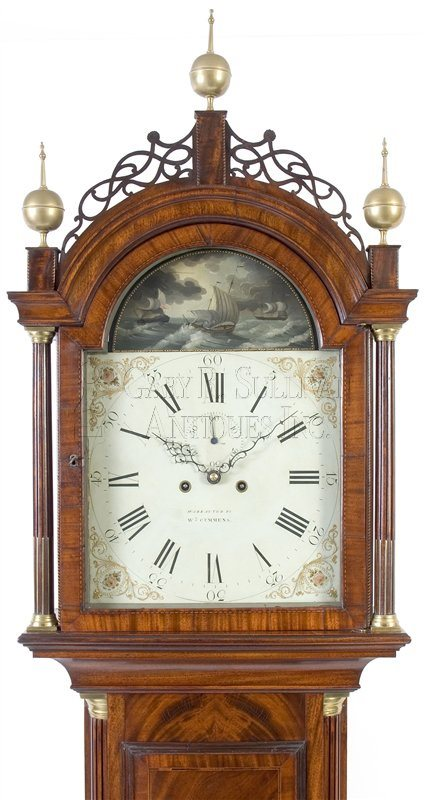 William Cummens Roxbury case clock