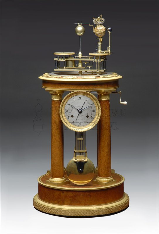 antique French Orrery shelf clock