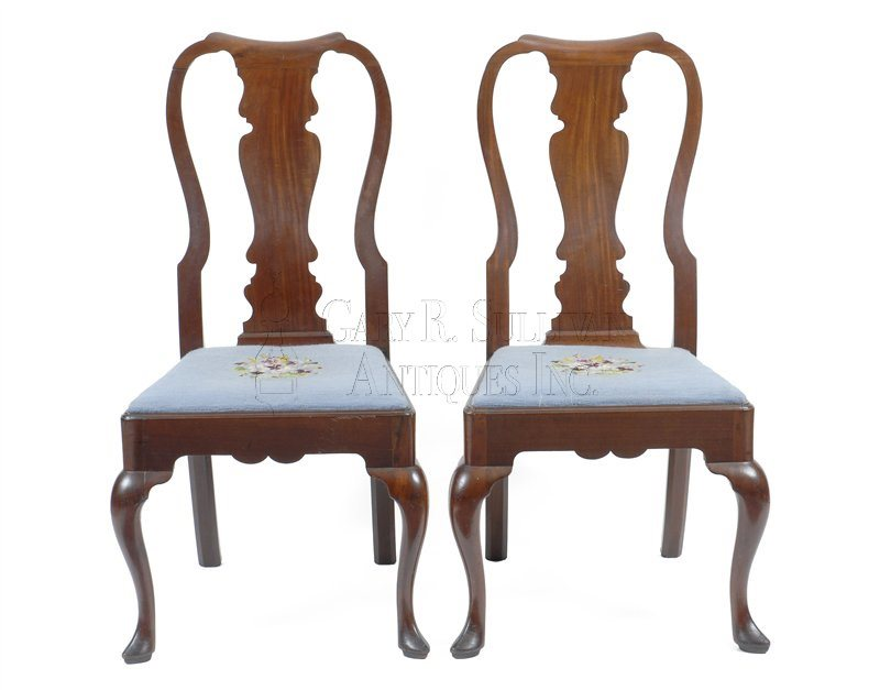 antique Chippendale dining chairs