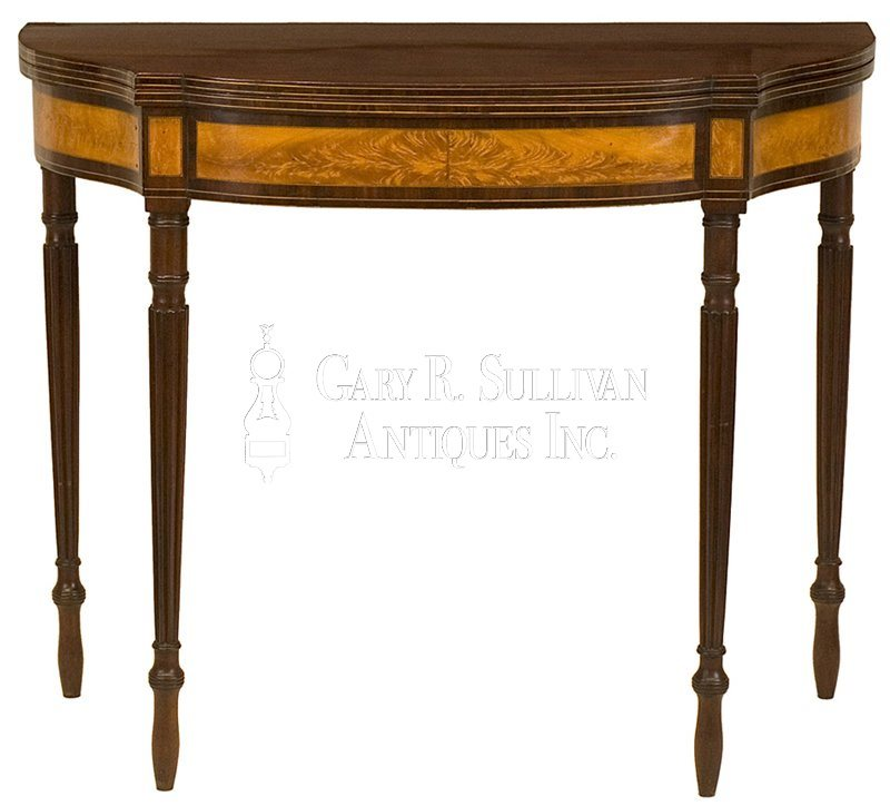 antique Federal card table