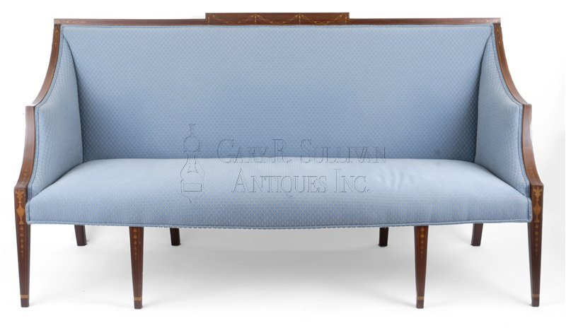 antique Federal inlaid sofa