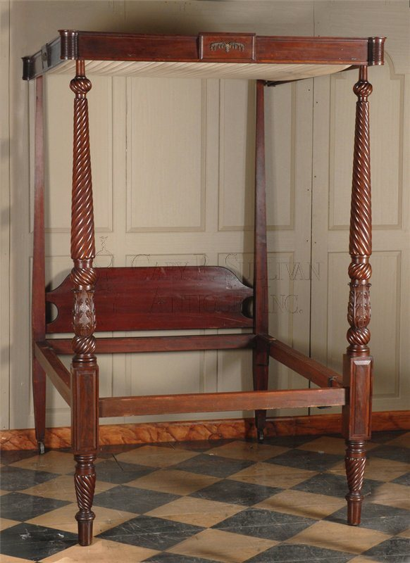 antique McIntire canopy bedstead