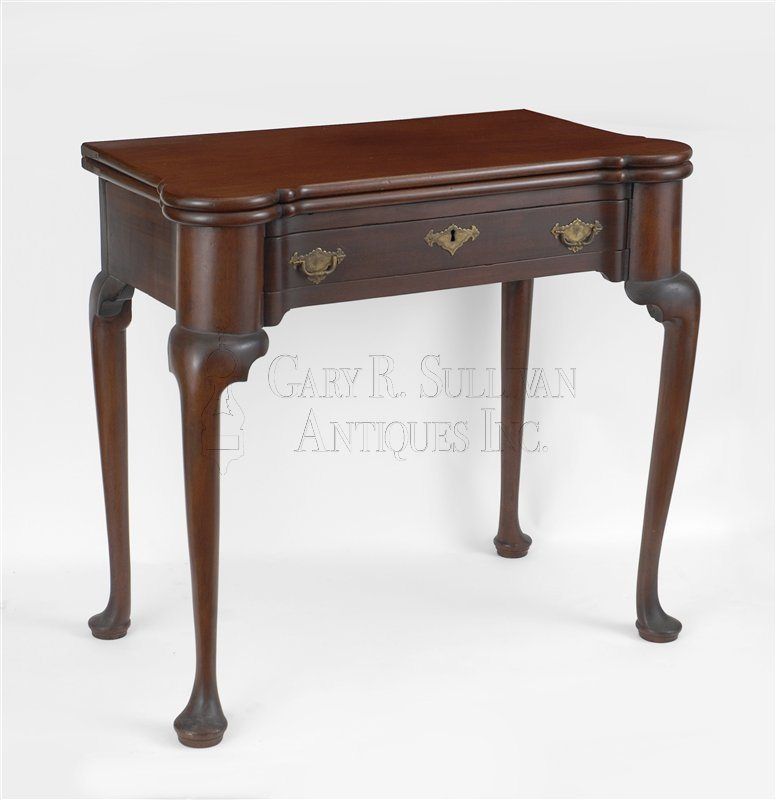 antique Queen Anne games table