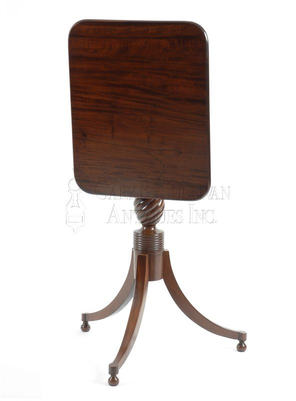 Sheraton antique candle stand